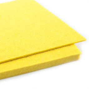 Фетр листовой жесткий IDEAL 1 мм 20х30 см FLT-H1 упаковка 10 листов цвет 643 желтый фото