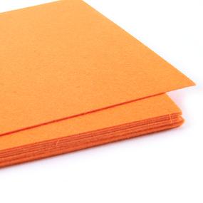 Фетр листовой жесткий IDEAL 1 мм 20х30 см FLT-H1 упаковка 10 листов цвет 645 оранжевый фото