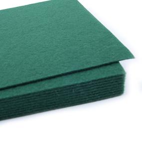 Фетр листовой жесткий IDEAL 1 мм 20х30 см FLT-H1 упаковка 10 листов цвет 667 т-зеленый фото