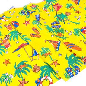 Полотенце вафельное пляжное 323/4 Пляж цвет желтый 150/75 см фото