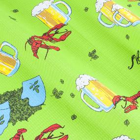 Полотенце вафельное банное 150/75 см 277/1 Раки цвет зеленый фото