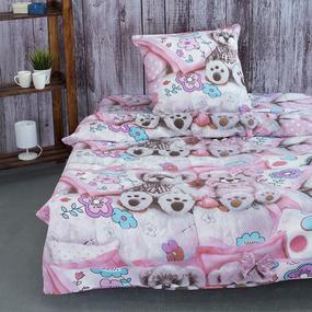 Детское постельное белье из поплина 1.5 сп 1689 Мягкие игрушки фото