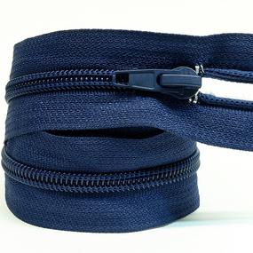 Молния спиральная разъёмная 50см; цвет: 330-темно-синий фото