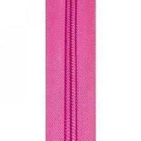 Молния спиральная разъёмная 75см; цвет: 141 - ярко-розовый фото