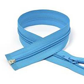 Молния спиральная разъёмная 75см; цвет: 331 - голубой фото