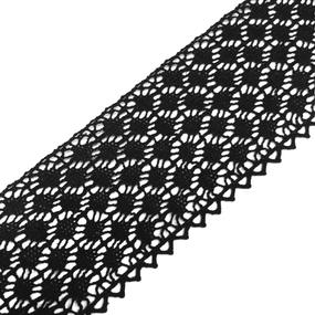 Кружево лен 2204 Черный 6 см уп 10 м фото