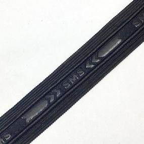 Лампасы №135 черный под кожу с надписью SMS 2,5см 1 метр фото