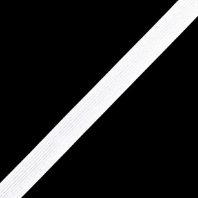 Резинка вязаная 25мм 50 м белый фото