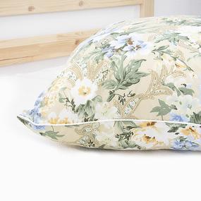 Подушка Лебяжий пух Цветы цвет бежевый 70/70 фото