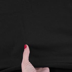 Ткань на отрез рибана с лайкрой М-2127 цвет черный фото