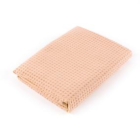 Полотенце вафельное банное Премиум 150/75 см цвет 113 морковный фото