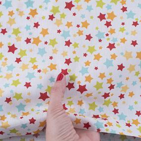 Ткань на отрез поплин 150 см 2150/1 Звездочки фото