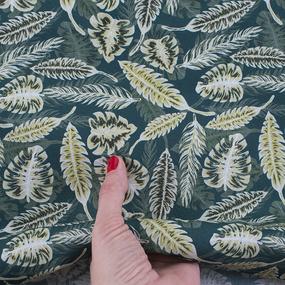 Ткань на отрез перкаль 150 см 90067 Монстера фото