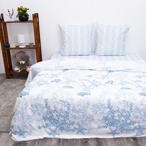 Постельное белье из поплина 9226 2-х сп с евро простыней фото