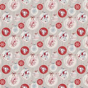 Ткань на отрез вафельное полотно набивное 150 см 204761В Рождество фото
