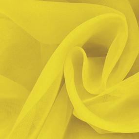 Ткань на отрез Вуаль 280 см цвет 30 желтый фото