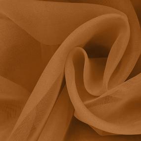 Ткань на отрез Вуаль 280 см цвет 14 коричневый фото