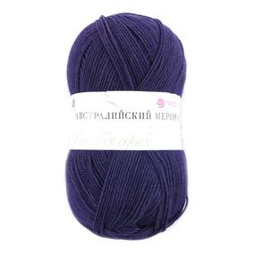 Пряжа для вязания ПЕХ Австралийский меринос 100гр/400м цвет 698 т/фиолетовый фото
