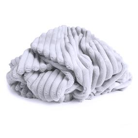 Маломеры Плюш Минки-страйп Польша 160 см цвет серый 0.7 м фото