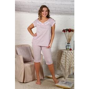 Пижама Вишенка горох на розовом Б10 р 62 фото