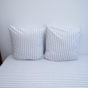 Постельное белье из поплина 771-2 Ля-Мурр серый 2-х сп с евро простыней фото