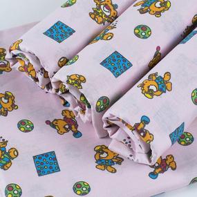Набор детских пеленок бязь набивная 4 шт 140гр./м2 156/3П 120/80 фото