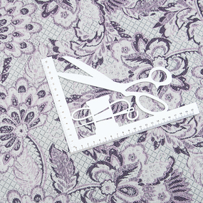 Гобелен Жаккард Романтика 200 см 1706 02 G-900 0576 цвет сиреневый фото