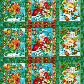 Маломеры вафельное полотно набивное 150 см 597/1п цвет зеленый 1 шт фото