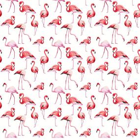 Перкаль 150 см набивной арт 140 Тейково рис 13283 вид 1 Фламинго фото