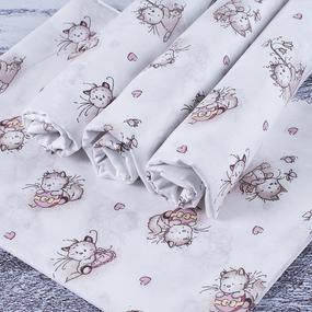 Набор детских пеленок ситец 4 шт 90/120 см 9019/1 Пушистые котята фото