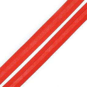 Косая бейка хлопок ширина 15 мм (132 м) цвет 7028 красно-оранжевый фото