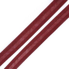 Косая бейка хлопок ширина 15 мм (132 м) цвет 7031 коричнево-красный фото