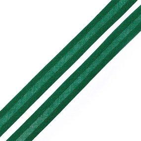 Косая бейка хлопок ширина 15 мм (132 м) цвет 7059 насыщенный зеленый фото