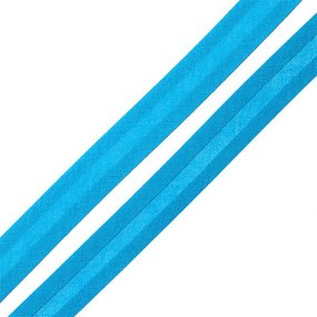 Косая бейка хлопок ширина 15 мм (132 м) цвет 7081 св-синий фото