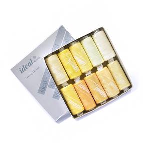 Набор бытовых ниток Ideal 40/2 100% п/э желтые оттенки уп 10шт фото