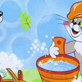 Полотенце вафельное банное 150/75 см 83391 Банный день в Простоквашино фото