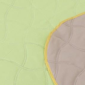 Покрывало детское ультрастеп двухстороннее цвет салатовый-бежевый 105/150 см фото