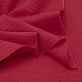 Ткань на отрез вафельное полотно гладкокрашенное 150 см 240 гр/м2 7х7 мм цвет 032 цвет красный фото