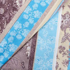 Маломеры бязь о/м ГОСТ 150 см 304/1 Ажур цвет голубой 8 м фото