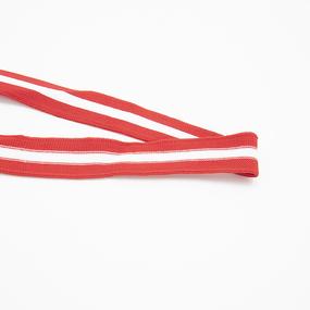 Лампасы №122 красный белый красный 2,5см 1 метр фото