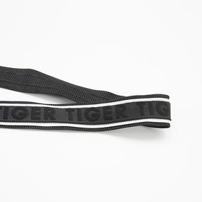 Лампасы №138 черный под кожу белые строчки надпись Fashion 2,5см 1 метр фото