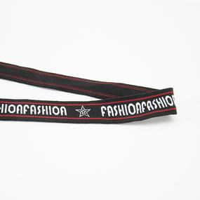 Лампасы №140 черный с красной строчкой FASHIONFASHION звезда 2см 1 метр фото