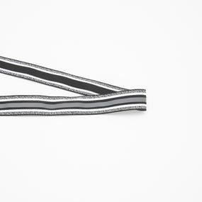 Лампасы №147 серый белый черный светоотражающая полоса 2,5см 1 метр фото