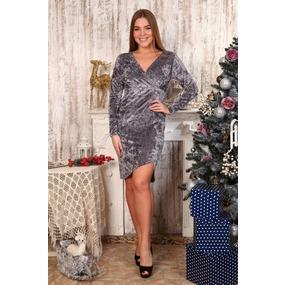 Платье Элеонора серое Д484 р 56 фото