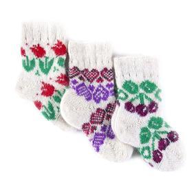 Детские носки тёплые шерстяные 105 16 см фото