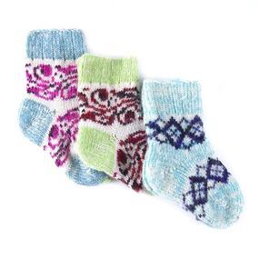 Детские носки тёплые шерстяные 107 15 см фото