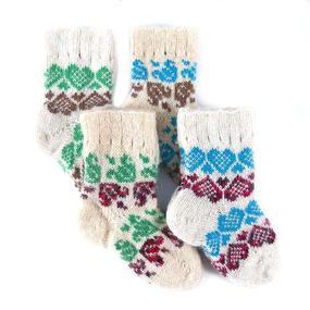 Детские носки тёплые шерстяные 108 16 см фото