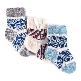 Детские носки тёплые шерстяные 109 15 см фото