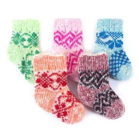 Детские носки тёплые шерстяные 100 11-12 см фото