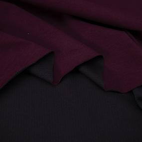 Ткань на отрез футер с лайкрой цвет темно-бордовый фото
